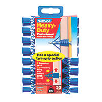 Plasplugs Heavy Duty Plasterboard Fixings 10mm 30 Pack