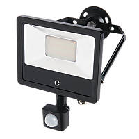 Collingwood  LED Floodlight with PIR With PIR Sensor Black 20W Up to 2400lm