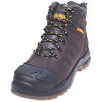 DeWalt Hadley   Safety Boots Brown Size 12