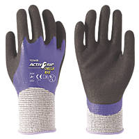 Towa ActivGrip Omega Max Cut 5 Gloves Black / Purple / Grey Medium