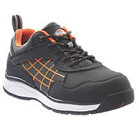 Dickies Elora Metal Free Ladies Safety Trainers Black / Orange Size 6