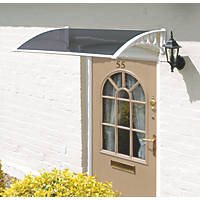 Greenhurst Easy Fit Door Canopy White 1 x 0.6 x 0.23m
