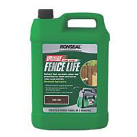 Ronseal Sprayable One Coat Fencelife Dark Oak 5Ltr