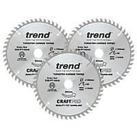 Trend Panel Trim TCT Circular Saw Blades 165 x 20mm 48, 48 & 48T 3 Pack