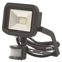 Luceco Guardian LED Floodlight & PIR Black 8W Warm White