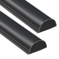 TV Trunking 50mm x 25mm x 1.5m Black Pack of 2