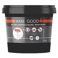 Make Good MGPRPLN025 No Tape Jointing & Filling Ready Mixed Compound White 10kg