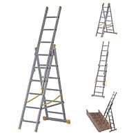Werner  3-Section 4-Way Aluminium Combination Ladder  3.78m