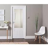 Jeld-Wen  1-Semi-Translucent Light Primed White Wooden Cottage Internal Door 1981 x 838mm