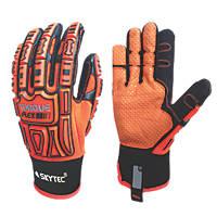Skytec Skytec Torque Flex Impact-Resistant Gloves Orange / Black Large
