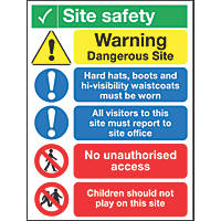 """Site Safety"" Notice Sign 400 x 300mm"