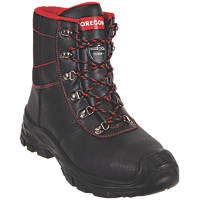 Oregon Sarawak Chainsaw Protection Safety Boots Black Size 8