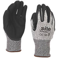Site KF520 Cut Resistant Gloves Grey / Black Medium