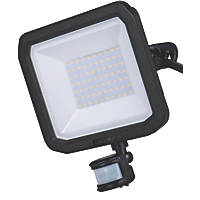 Luceco LFSP50B150-XD5 LED Outdoor Floodlight with Adjustable PIR With PIR Sensor Black 50W