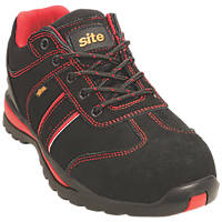 Site Coltan   Safety Trainers Black / Red Size 9
