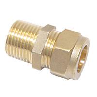 "Flomasta SFU_0324 Brass Compression Adapting Male Coupler 22mm x ¾"""
