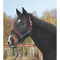 Kerbl Pony Head Collar Red & Blue