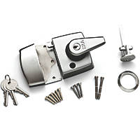 ERA 193-35-1 Double Locking Night Latch  Satin Chrome 60mm Backset