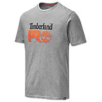 "Timberland Pro Cotton Core T Shirt  Grey Marl  X Large 47"" Chest"