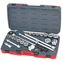 "Teng Tools T3422S 3/4"" Drive Metric / AF Socket Set 22 Pieces"