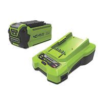 Greenworks GWGSK40B2 40V 2.0Ah Lithium  Battery & Charger
