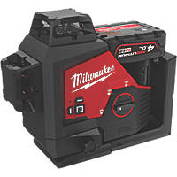Milwaukee M123PL-401C 12V 4.0Ah Li-Ion RedLithium Green Self-Levelling Cross-Line Laser Level
