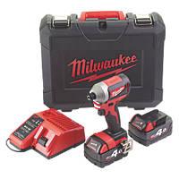 Milwaukee M18 CBLID-402C 18V 4.0Ah Li-Ion RedLithium Brushless Cordless Impact Driver