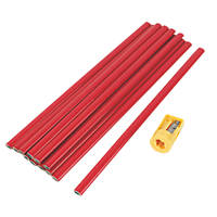 300mm Carpenters Pencils HB 12 Pack