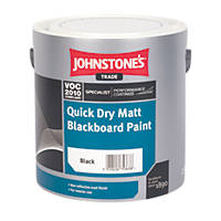 Johnstones Matt Blackboard Paint Black 2 5ltr