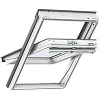 Velux  CK04 Manual Centre-Pivot White  Roof Window Clear 550 x 980mm