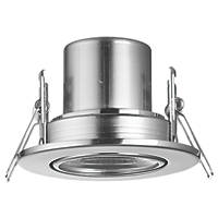 LAP CosmosEco Tilt  Fire Rated LED Downlight Satin Nickel 500lm 5.5W 220-240V