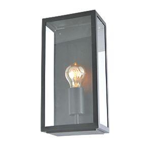 zinc minerva black metal framed box lantern 60w outdoor. Black Bedroom Furniture Sets. Home Design Ideas