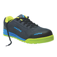Goodyear GYSHU1569 Metal Free  Safety Trainers Black / Green / Blue Size 7