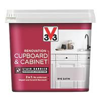 V33 Cabinet Paint Satin Rye Brown 750ml