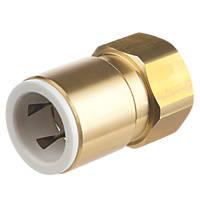 "Flomasta SBFA6745M Brass Push-Fit Adapting Female Coupler Pipe Fitting Adaptor 22mm x ¾"""