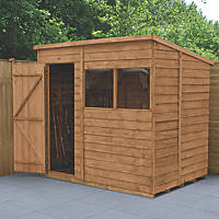 Forest  7' x 5' (Nominal) Pent Overlap Timber Shed with Base & Assembly