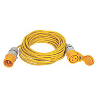 Carroll & Meynell 110V Extension Lead Yellow 1.5mm x 14m