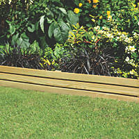 Forest Slatted Border Edging Smooth-Planed 1.2m 4 Pack