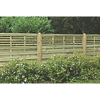 Forest Kyoto  Lattice Top Fence Panels 6 x 4' Pack of 10