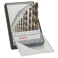 Bosch Straight Shank X-Pro HSS Drill Bits 10 Piece Set