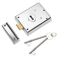 Eurospec Contract Rim Deadlock Polished Chrome 105 x 81mm