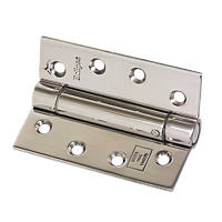 Eclipse Polished Stainless Steel Ungraded Fire Rated Adjustable Self-Closing Hinge 102 x 76mm 2 Pack
