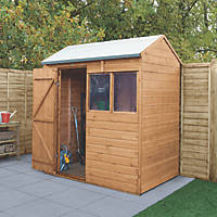 Forest Delamere 6' x 4' (Nominal) Reverse Apex Shiplap Timber Shed