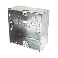 LAP Installation Boxes Galvanised Steel 1 Gang 35mm Pack of 10