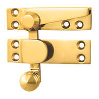 Carlisle Brass Sash Fastener Quadrant Arm Polished Brass 70 x 20mm