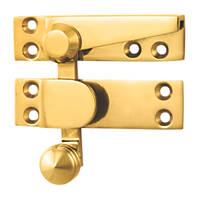 Carlisle Brass Sash Fastener Quadrant Arm Polished Brass 70 x 20mm
