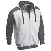 """JCB Trade Hoodie Grey Large 42-44"""" Chest"""