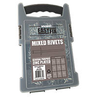 Easyfix  BZP Mixed Rivets Pack 900 Pcs