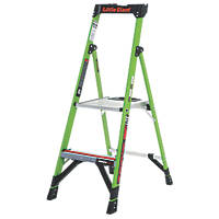 Little Giant  Fibreglass & Aluminium 2-Treads MightyLite Platform Stepladder 0.56m