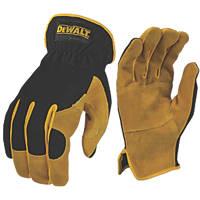 DeWalt DPG216L EU Leather Perfromance Hybrid Gloves Black / Yellow Large
